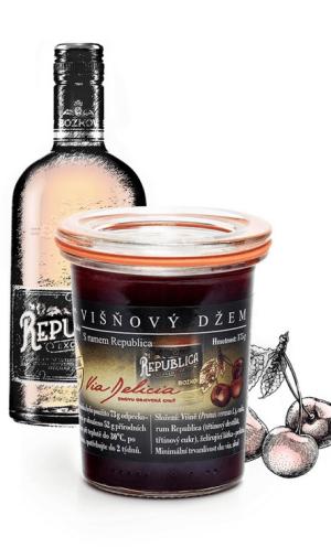 Višňový džem s rumom Republica