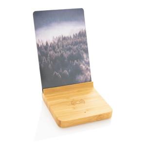 Bambusový fotorámček s bezdrôtovou nabíjačkou 5W