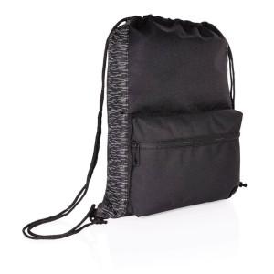 Reflexný šnúrkový ruksak z RPET AWARE ™