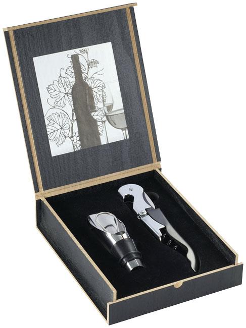 Dvoudílná sada otvíráku a nálevky na víno Belgio - Reklamnepredmety