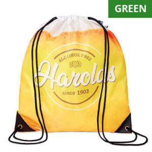 Batoh na stiahnutie Basic Green, plnofarebne potlačiteľný