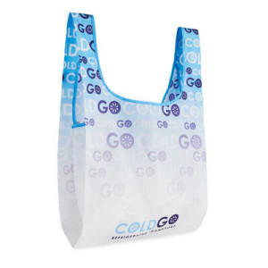 Skladacia nákupná taška Vest, plnofarebne potlačiteľná