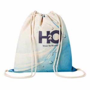 Bavlnený batoh so šnúrkami Cotton, plnofarebne potlačiteľný