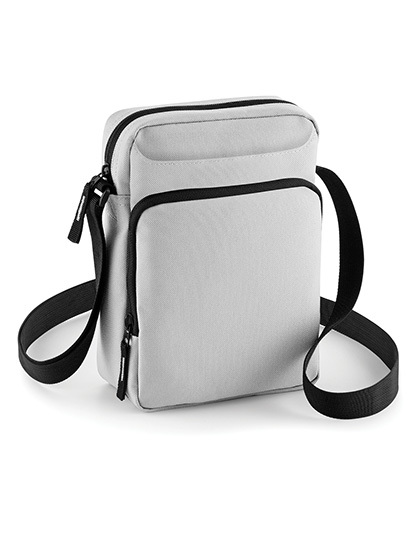 BagBase Mens Plain Conference Messenger Bag Light Grey Light Grey