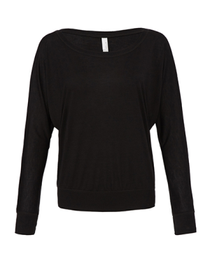BL8850 Flowy Long Sleeve Off The Shoulder Tee