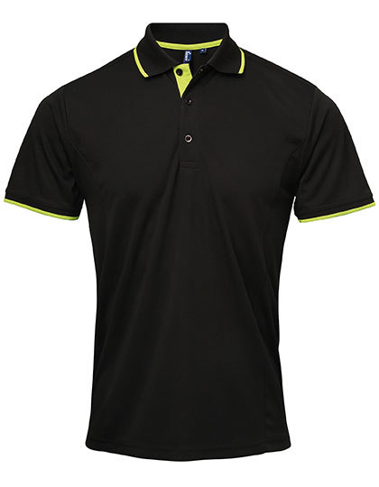 Mens Contrast Coolchecker Polo
