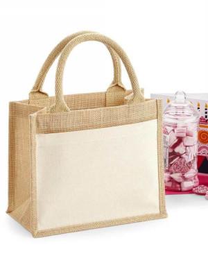 Darčeková jutová taška s bavlneným vreckom