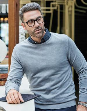 obrazok Pánsky sveter s guľatým výstrihom - Reklamnepredmety
