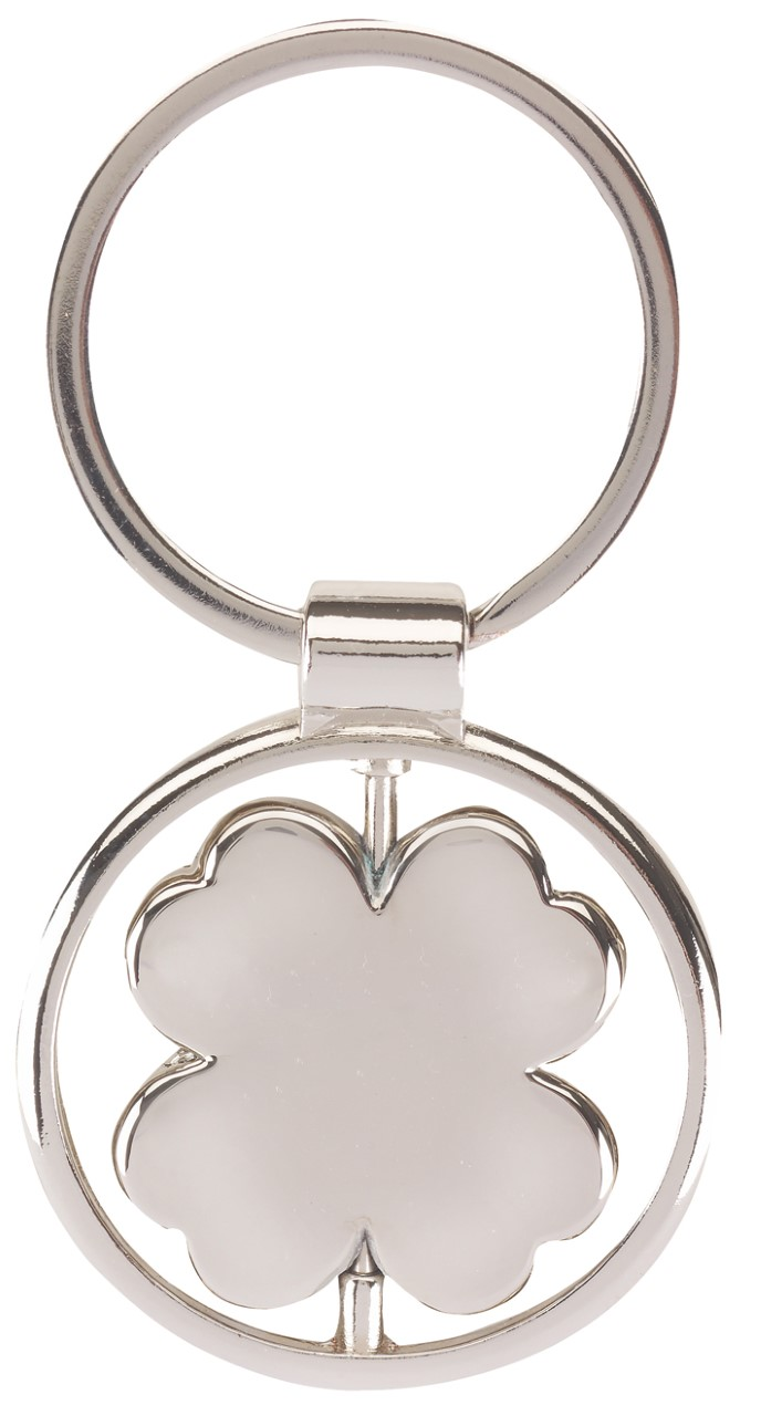 "Key ring ""Spinning Clover Leaf"""