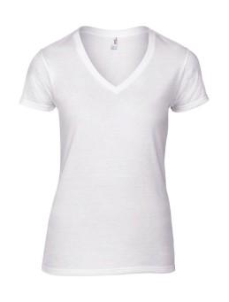 obrazok Dámske módne tričko Basic V-neck - Reklamnepredmety