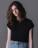Reklamnepredmety Dámske tričko Crop z organickej bavlny