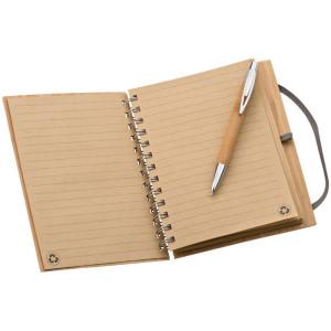 obrazok Zápisník s bambusovým krytom vo formáte A5 - Reklamnepredmety