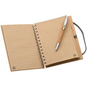 Zápisník s bambusovým krytom vo formáte A5