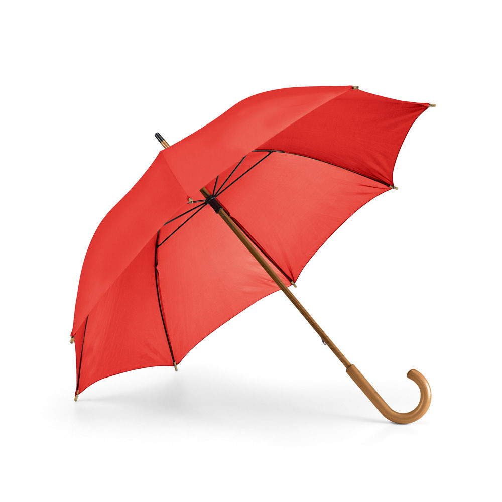 Umbrella. 190T polyester. Wooden shaft