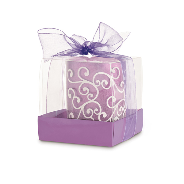 Candle. In glass candleholder. Box: 56