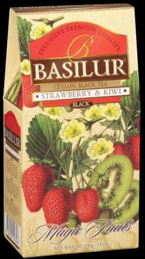 obrazok Čierny čaj Strawberry & Kiwi, 100g - Reklamnepredmety
