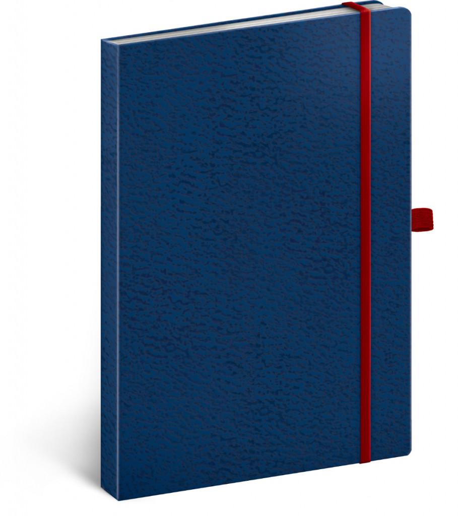 Notes Vivella Classic čierny/modrý, bodkovaný, 15 x 21 cm
