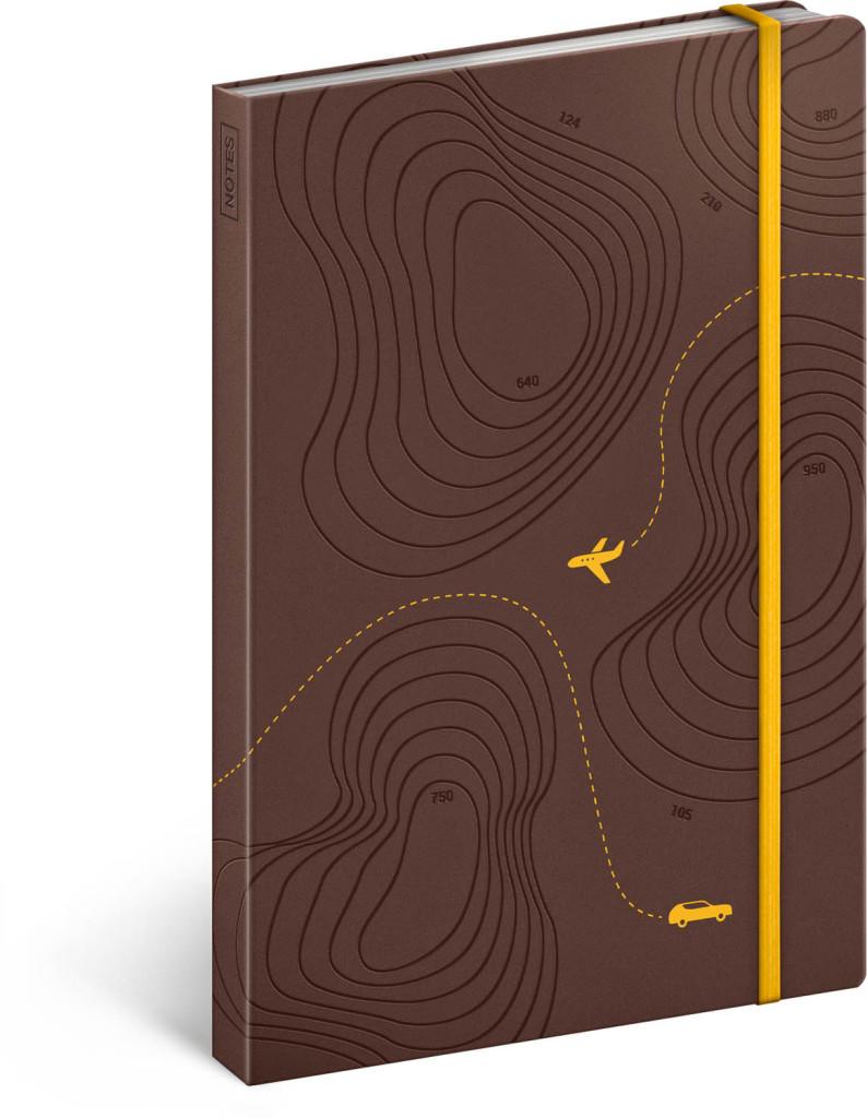 Cestovateľský notes, linajkovaný, 13 x 21 cm