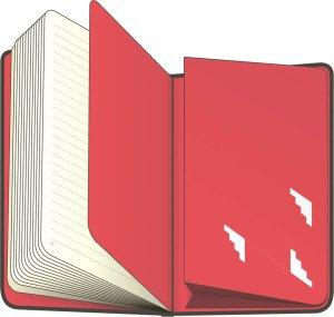 Notes Isometric, čistý, 13 x 21 cm