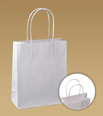 Tašky s krúteným uchom z hladkého papiera