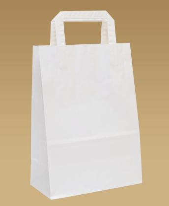 bf204709d4 Papierové tašky s plochým papierovým uchom. Najlacnejší ekologický variant  papierovej nákupnej tašky. Vhodný do eko predajní