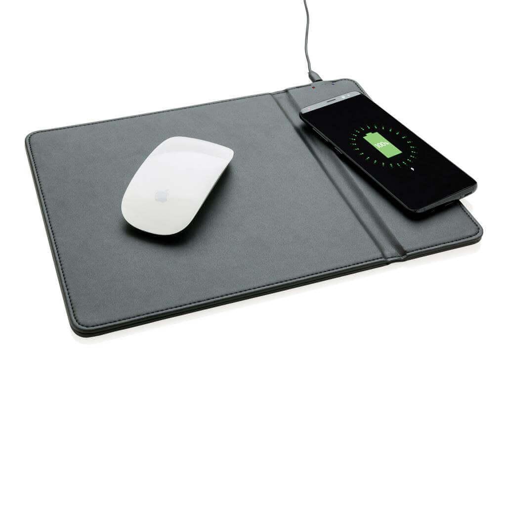 Mousepad with 5W wireless charging  podložka pod myš s bezdrôtovým 5W nabíjaním