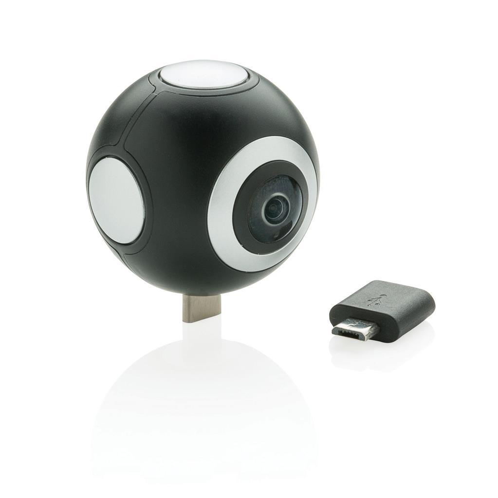 360° kamera s dvomi objektívmi