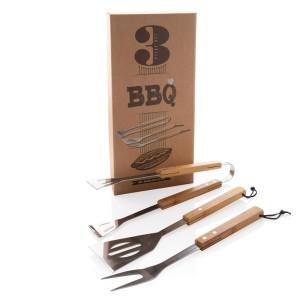 3dielna sada bambusových nástrojov na grilovanie