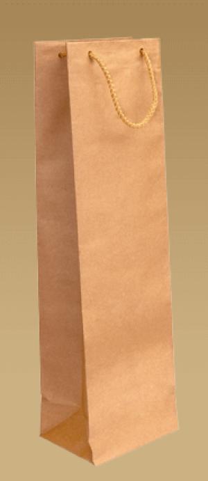 obrazok Ekologické papierové tašky na víno s textilným uchom - Reklamnepredmety