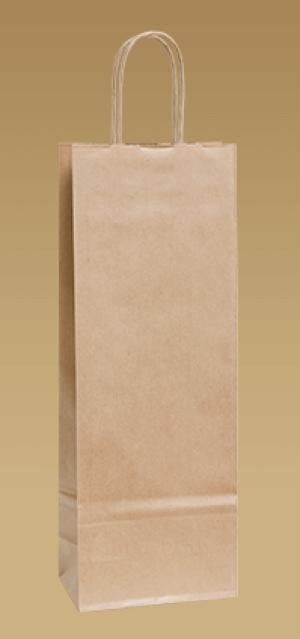 obrazok Ekologické papierové tašky na víno s krúteným uchom - Reklamnepredmety
