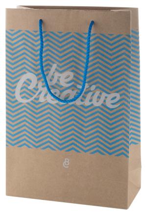 CreaShop M stredná papierová nákupná taška na zákazku