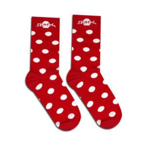 obrazok Ponožky červené bodkované - Reklamnepredmety