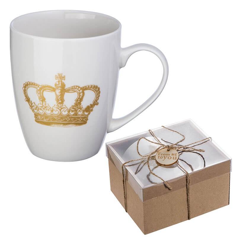 Hrnček s potlačou koruny