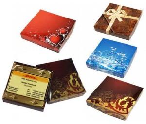 obrazok Tvar 016 - čokoláda s potlačou v krabičke - Reklamnepredmety