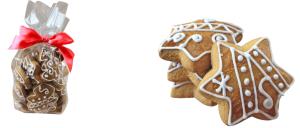 obrazok Maslový pernik zdobený cukr. polevou v celofánovom sáčku so stuhou - Reklamnepredmety