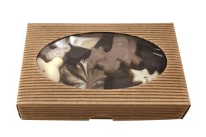 Maslové čajové pečivo - kraftová krabička s okienkom