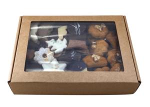 Maslový perník s orechom, kartónová krabička
