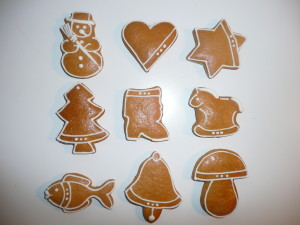 obrazok Malý zdobený domáci vianočný perník, jednotlivo balený v celofáne - Reklamnepredmety