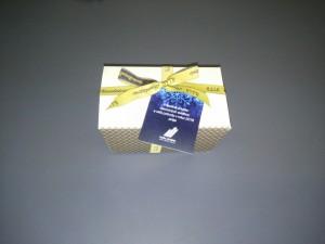 obrazok Pralinky v bielej papierovej krabičke Ballotin, 12 ks praliniek - Reklamnepredmety