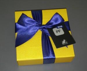 obrazok Pralinky v zlatej krabičke, 9 kusov - Reklamnepredmety