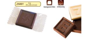 Reklamná čokoláda 6g s logom v čokoláde