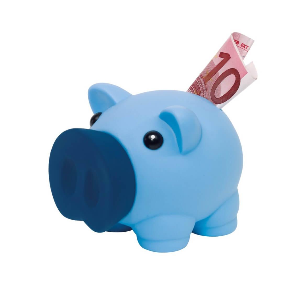 """Šporkasa prasiatko """"Money Collector"""", modrá"""