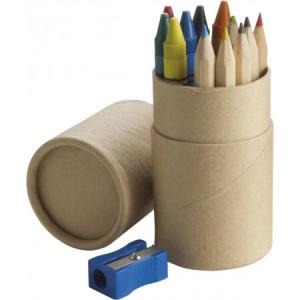 Sada ceruziek, hnedá