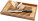 Reklamnepredmety Doska na krájanie Bistro s nožom na chlieb