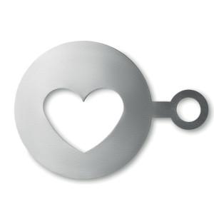 obrazok Kovová šablóna na kávu COFFEE HEART - Reklamnepredmety