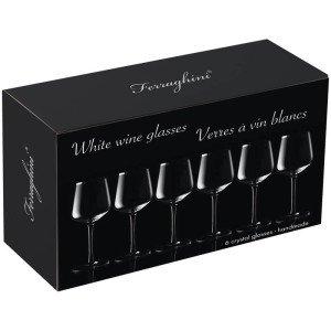Sada 6 pohárov na biele víno
