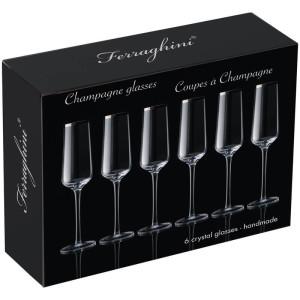 Sada 6 šampanských pohárov