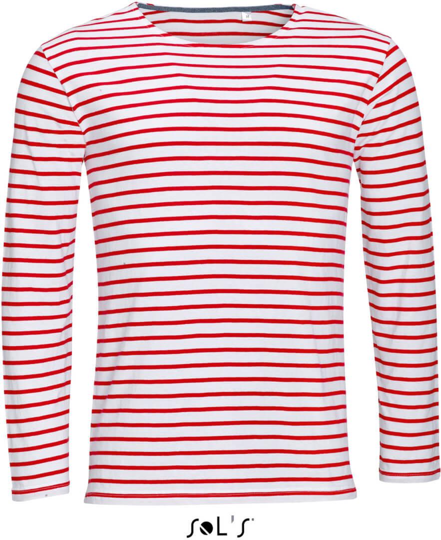 Pánske pruhované tričko s dlhým rukávom