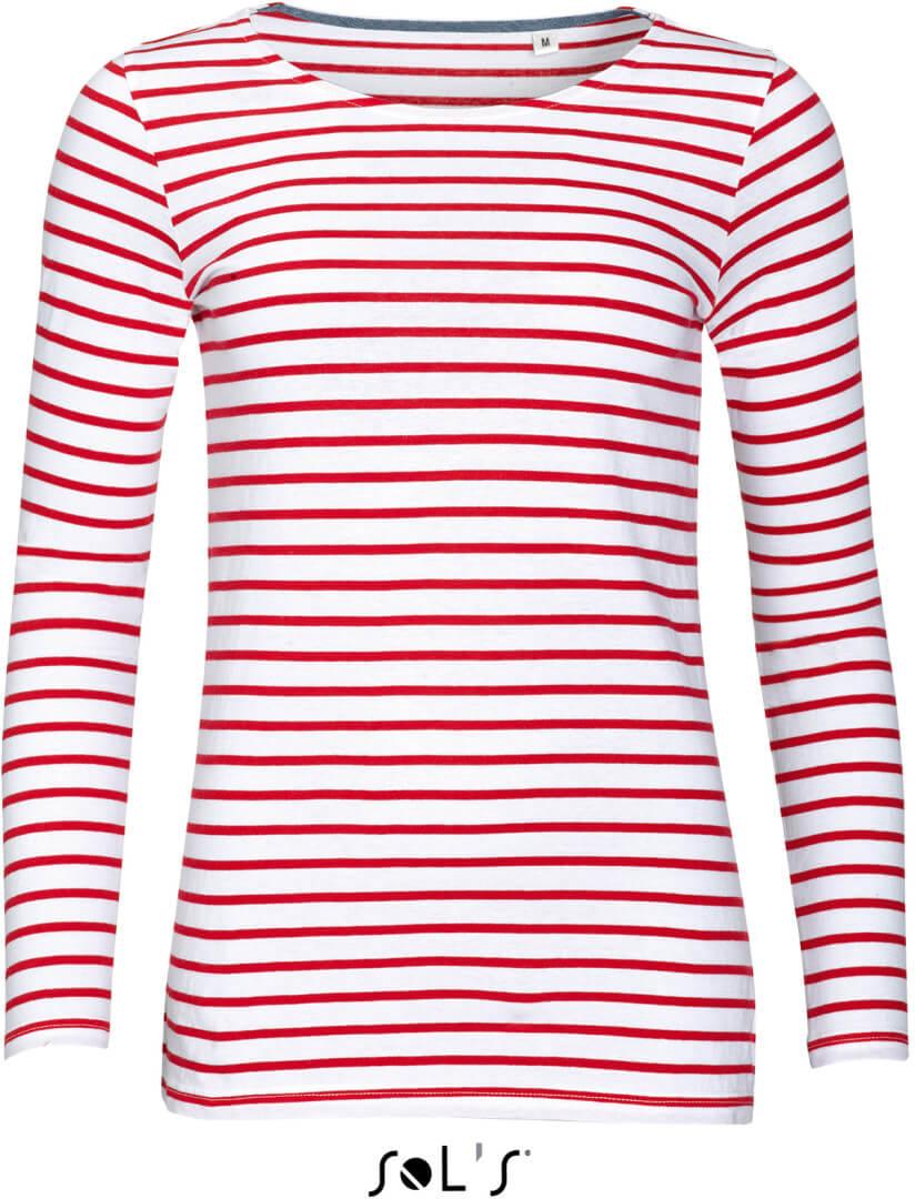Dámske pruhované tričko s dlhým rukávom
