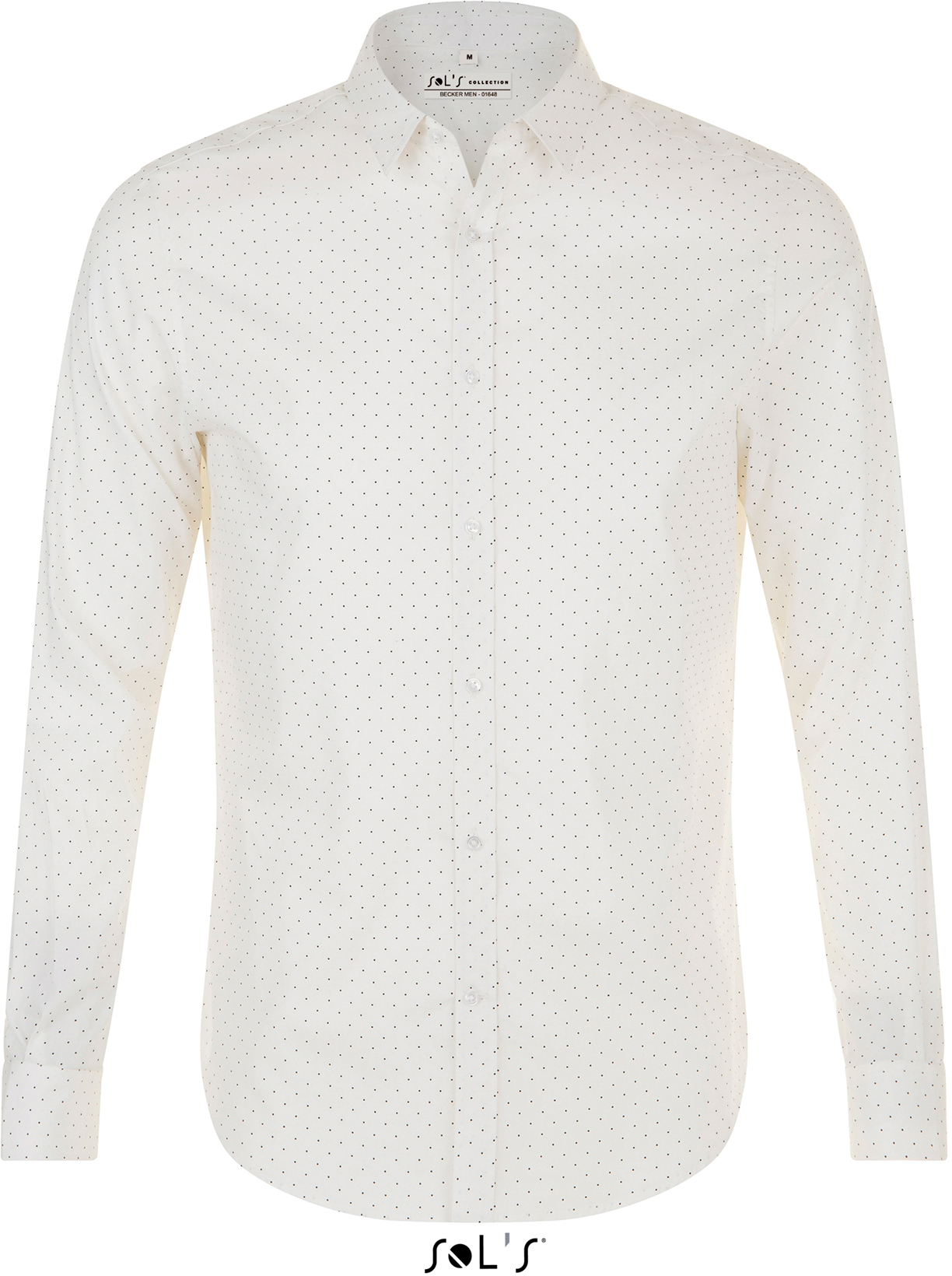 Panska popelínová košeľa s dlhým rukávom